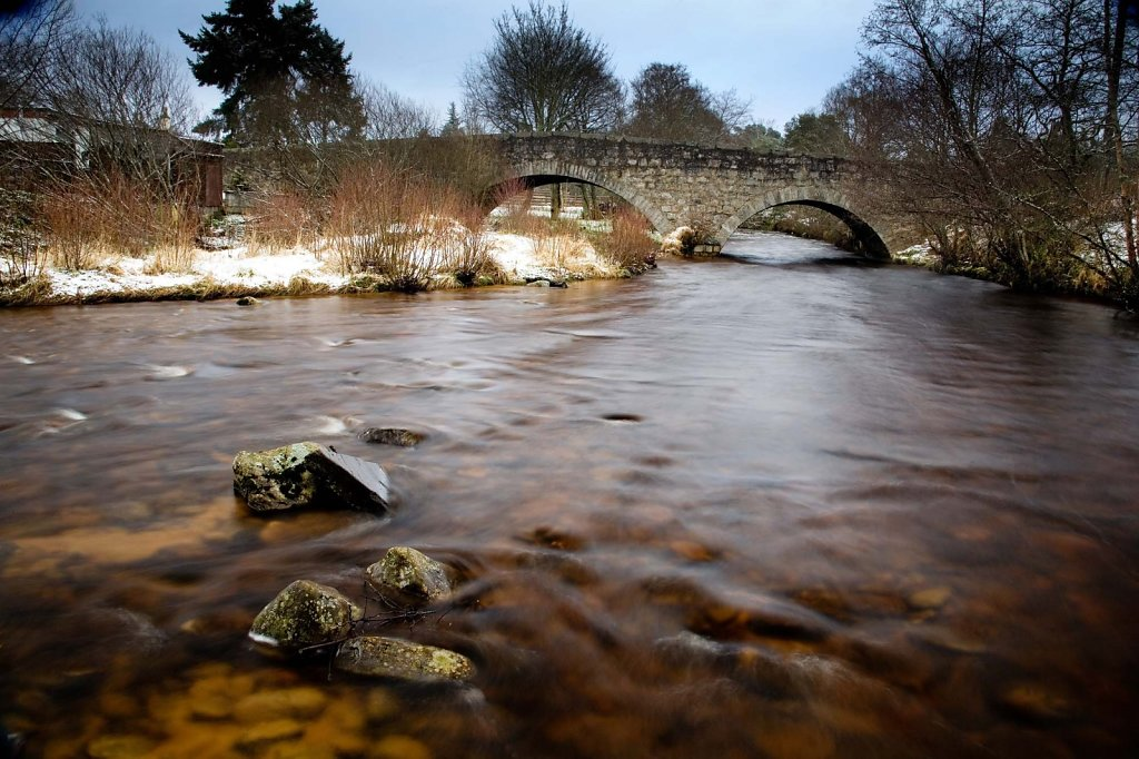 """Water under the bridge"", Nethybridge, Cairngorms."